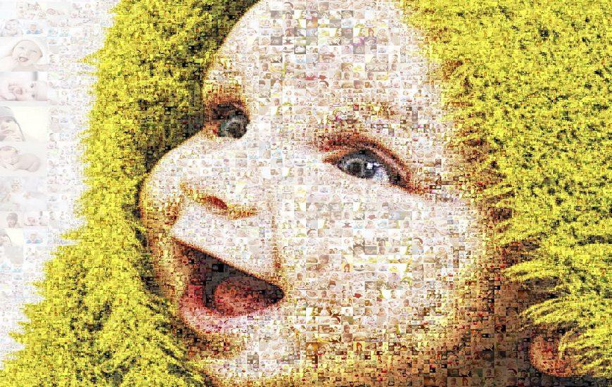 کلاژ عکس کودک