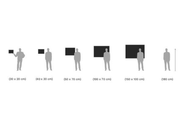مقیاس اندازهگیری تابلو عکس