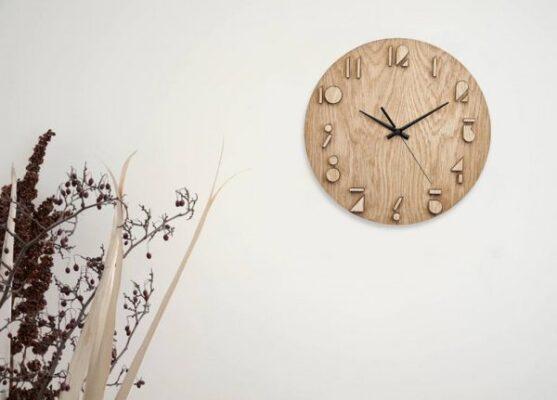 ساعت دیواری طرح وودن Wooden
