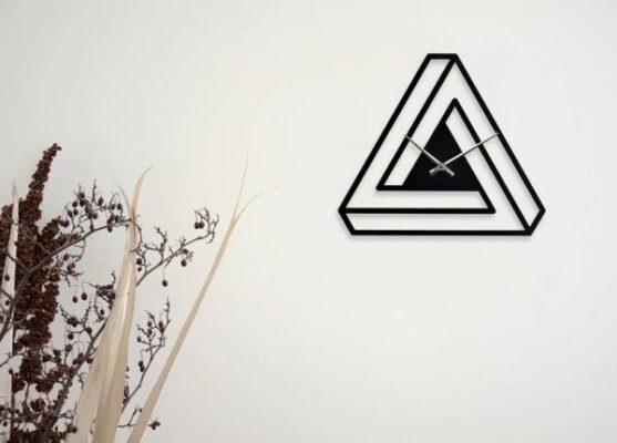 ساعت دیواری طرح تری انگل (Triangle)