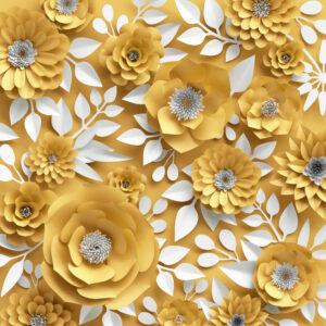 پوستر دیواری گل مصنویی