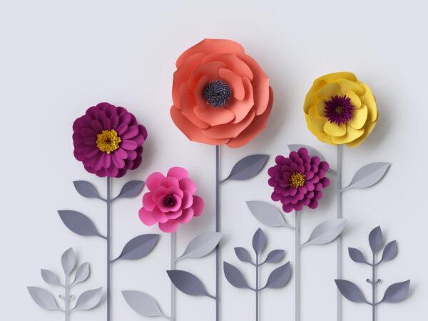 پوستر دیواری گل رنگارنگ