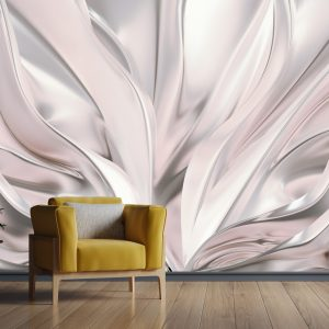 پوستر دیواری ابریشم سفید