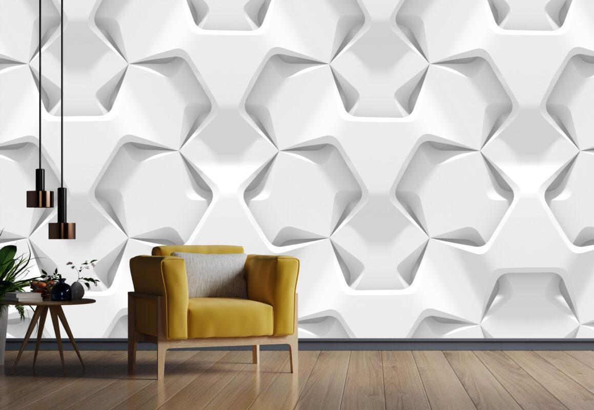 پوستر دیواری سه بعدی الگو برداری