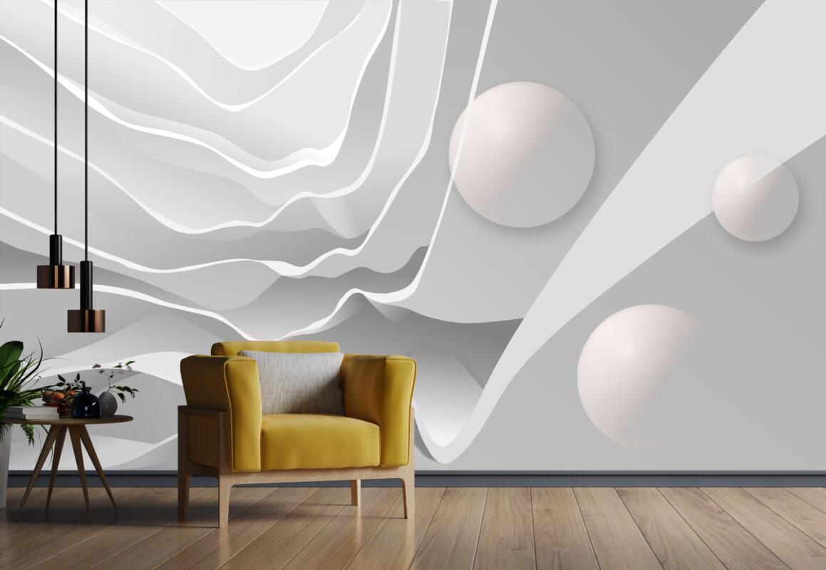 پوستر دیواری سه بعدی اجرام معلق