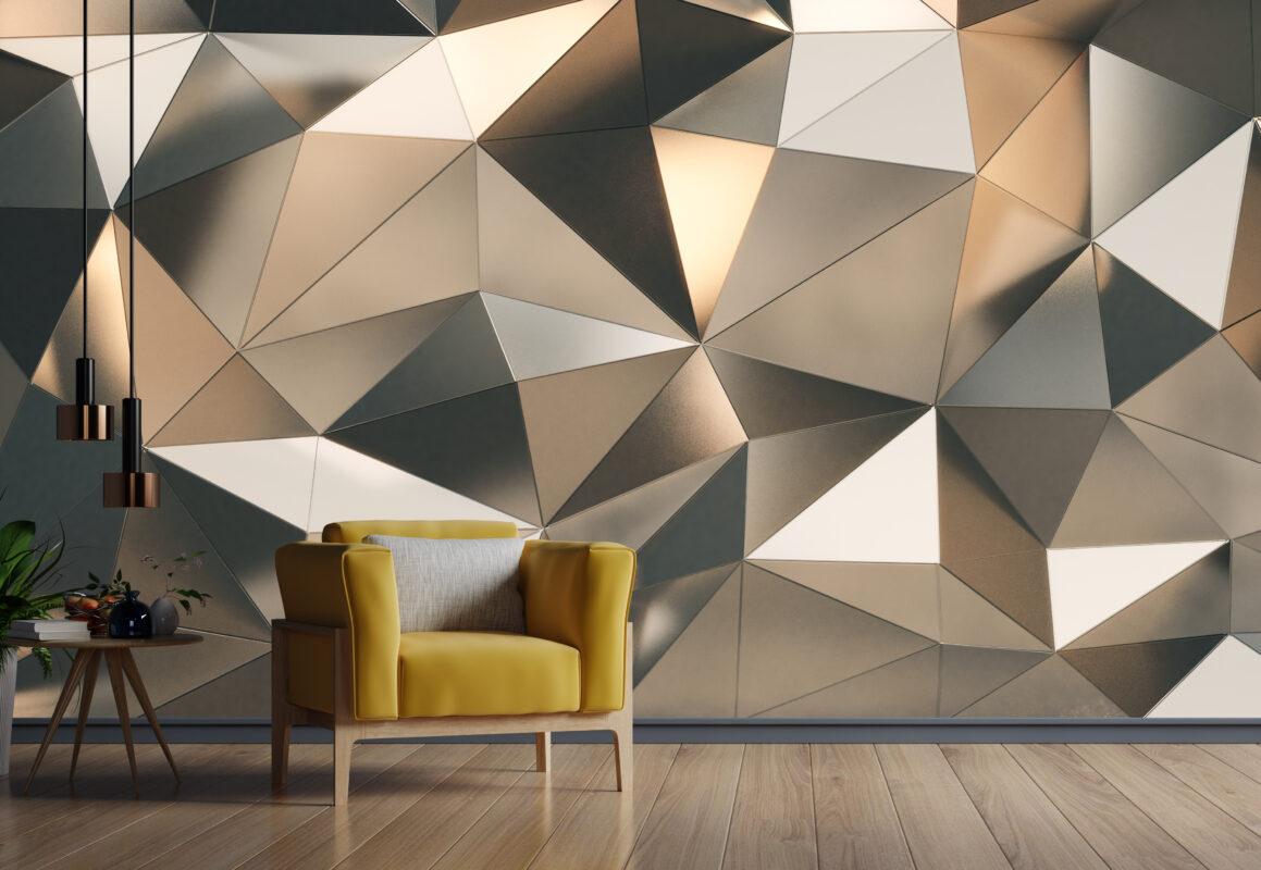 پوستر دیواری الگو برجسته استیل