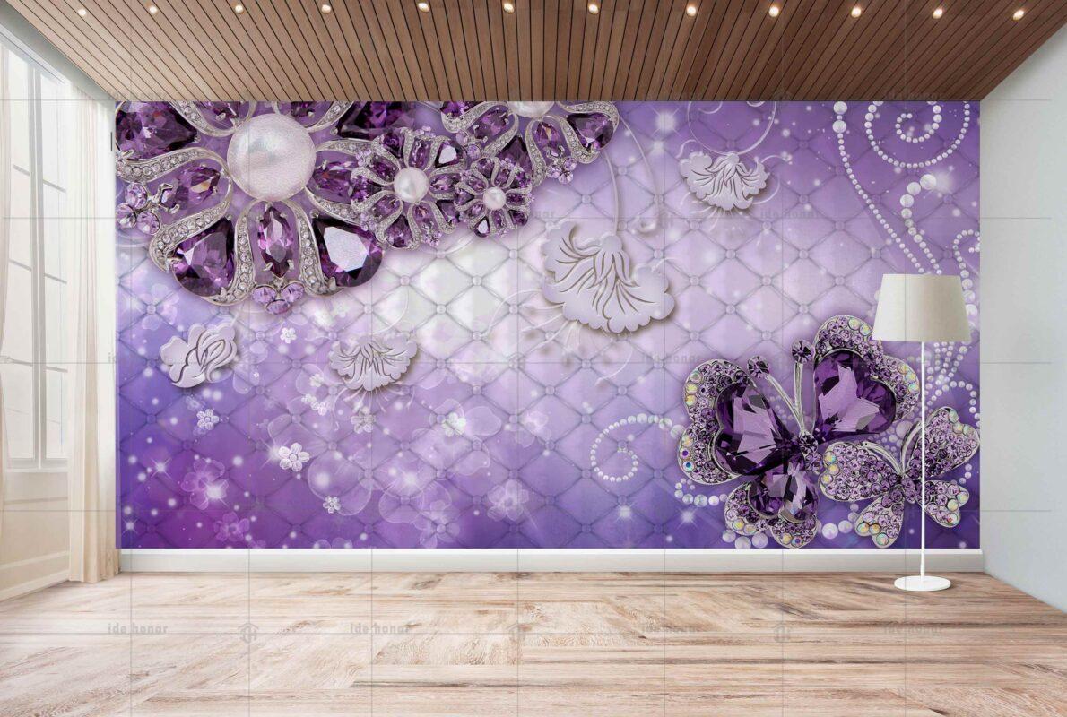 پوستر دیواری گل بنفش