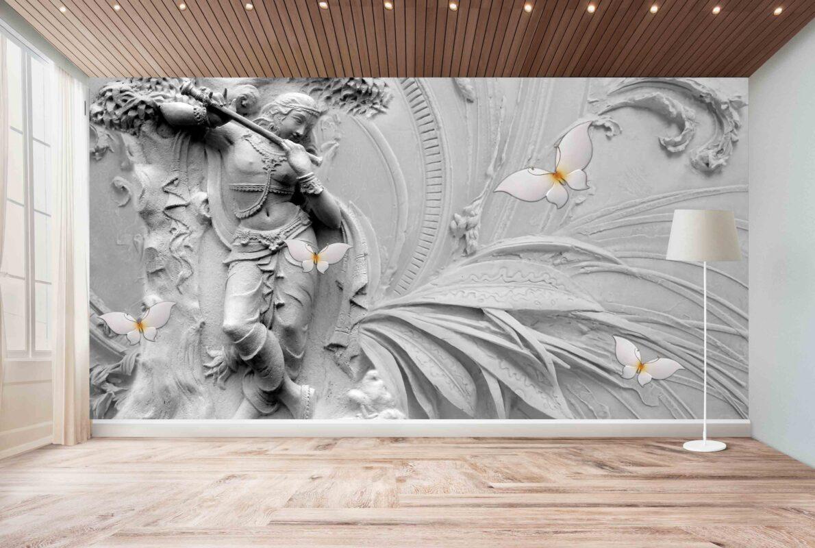 پوستر دیواری سه بعدی رقص زن