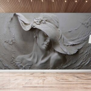 پوستر دیواری زن سه بعدی