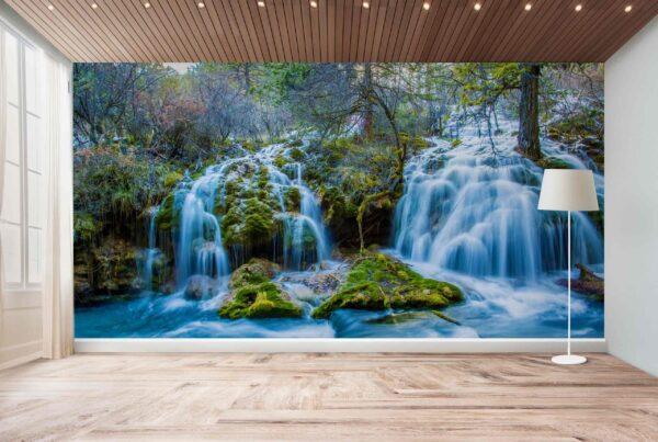 پوستر دیواری رودخانه در جنگل