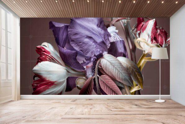 پوستر دیواری گلبرگ سفید