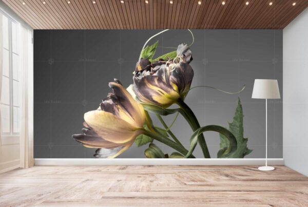 پوستر دیواری گل طلایی