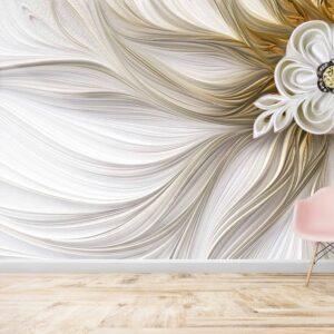 پوستر دیواری گلبرگ طلایی