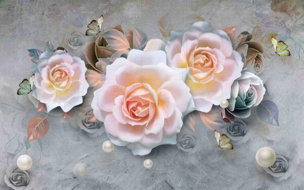 پوستر دیواری رز سفید