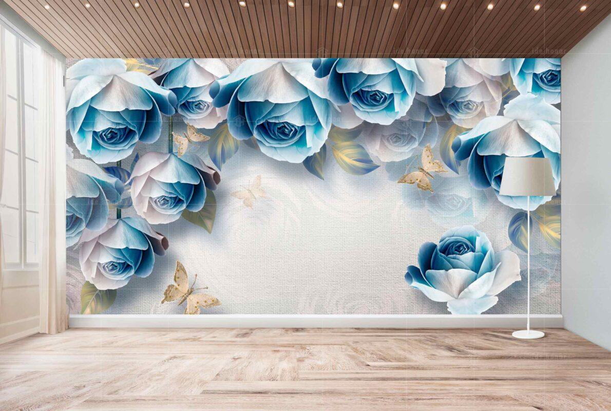 پوستر دیواری رز آبی
