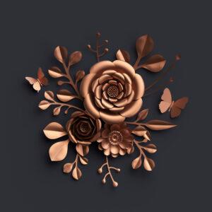 پوستر دیواری گل برجسته