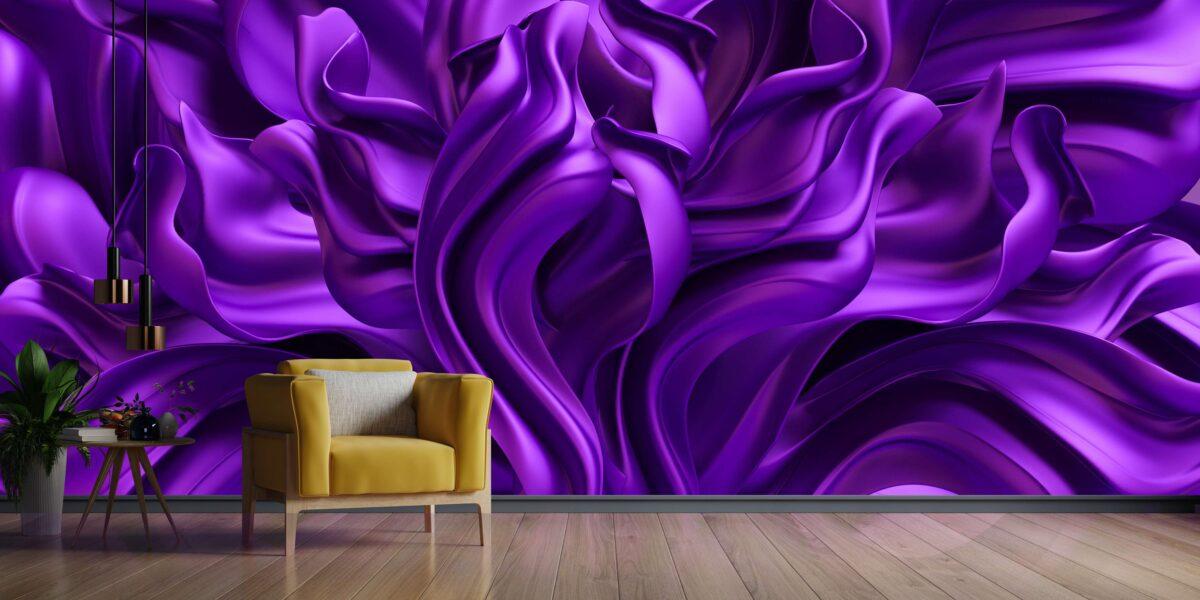 پوستر دیواری پارچه ابریشم بنفش