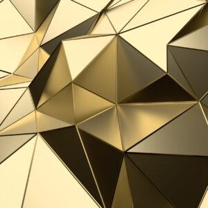 پوستر دیواری الگو مثلثی برنزی