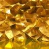 پوستر دیواری الگو مثلثی طلا