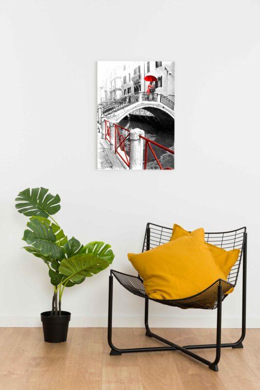 تابو عکس نقاشی فانتزی بوسه روی پل