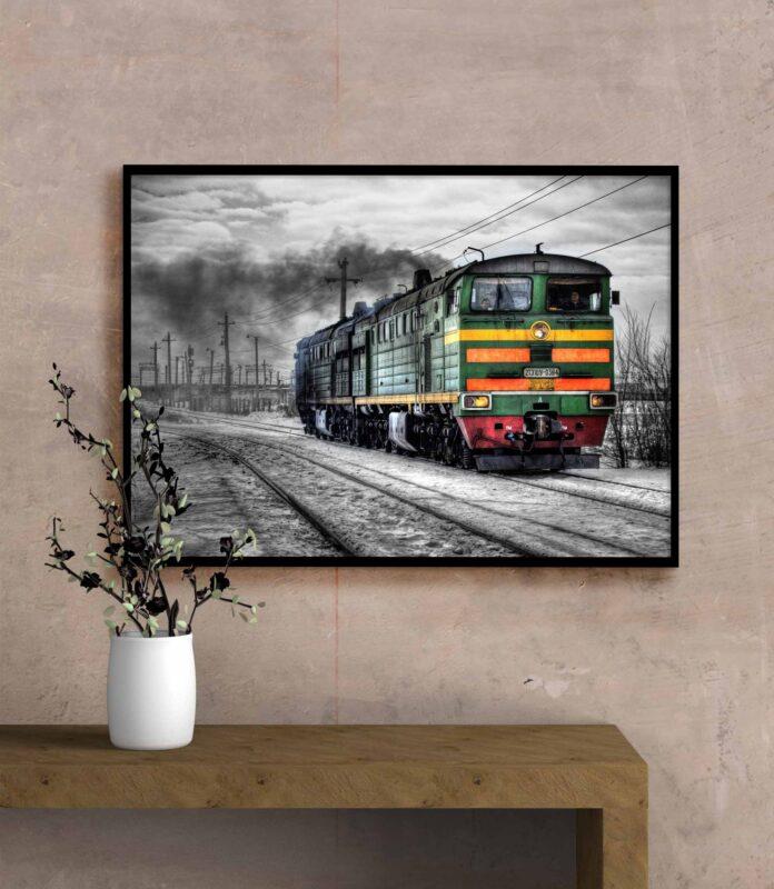 تابلو عکس فانتزی قطار