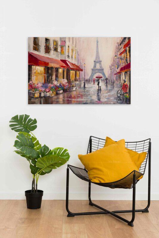 تابلو عکس نقاشی کلاسیک شهر پاریس