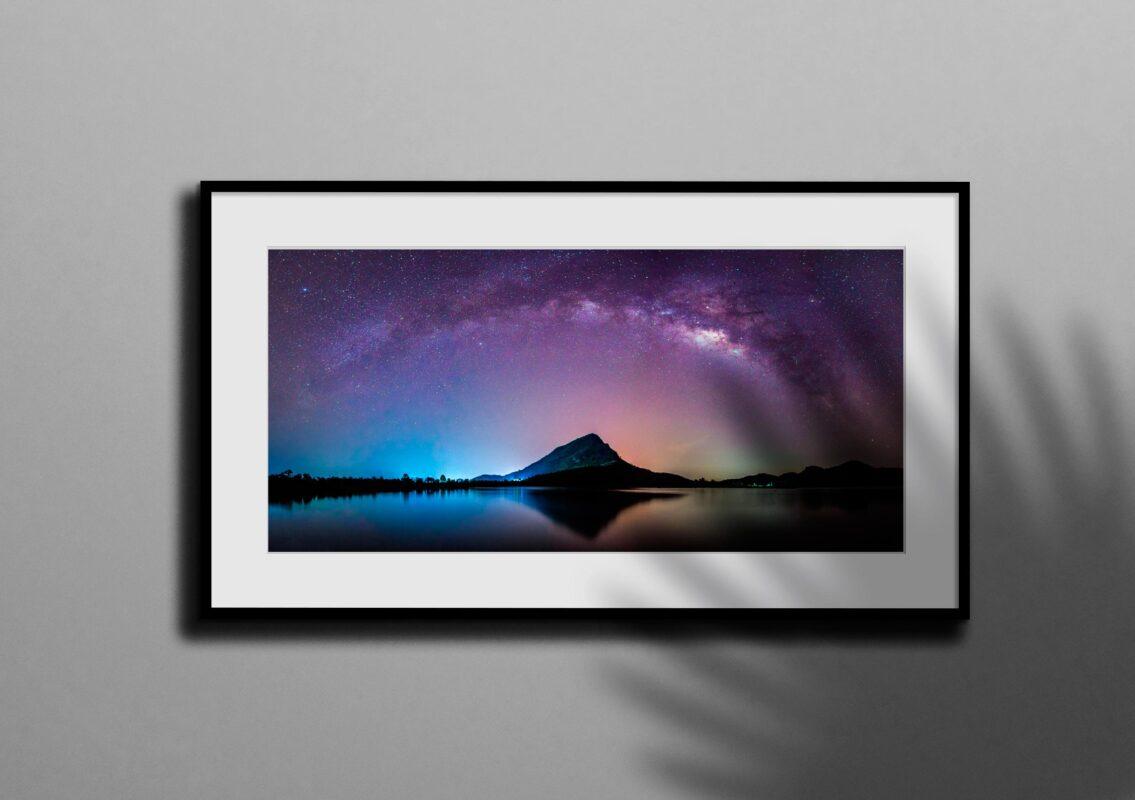 تابلو عکس کهکشان راه شیری در آسمان زمین