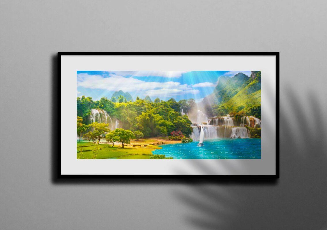 تابلو عکس آبشار در طبیعت