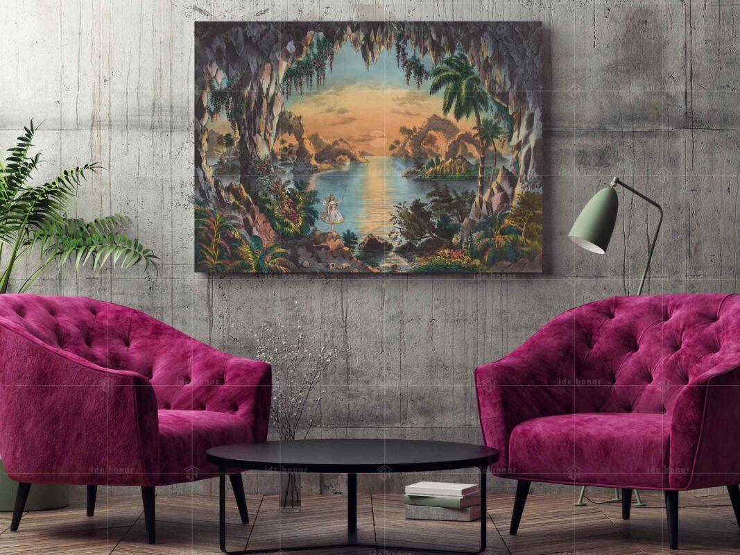 تابلو عکس نقاشی غار پری