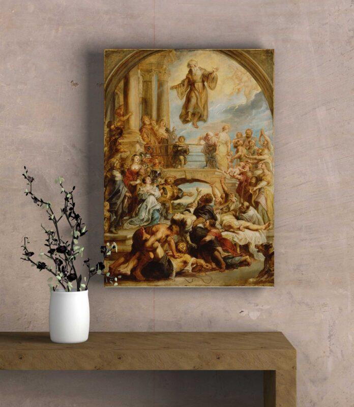 تابلو عکس معجزات مقدس فرانسیس پائولا