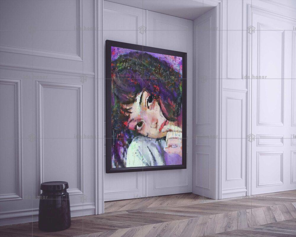 تابلو عکس نقاشی دختر زیبا