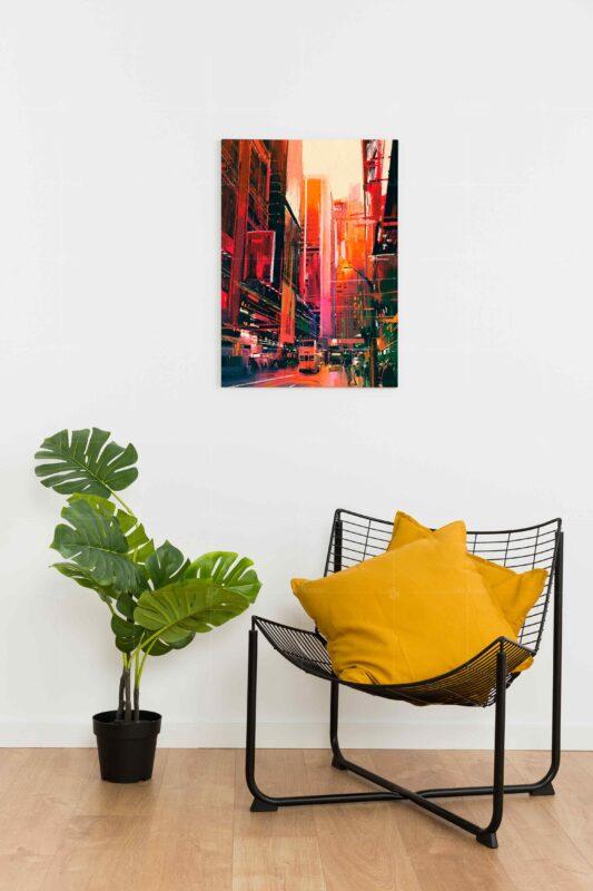 تابلو عکس نقاشی شهر مدرن
