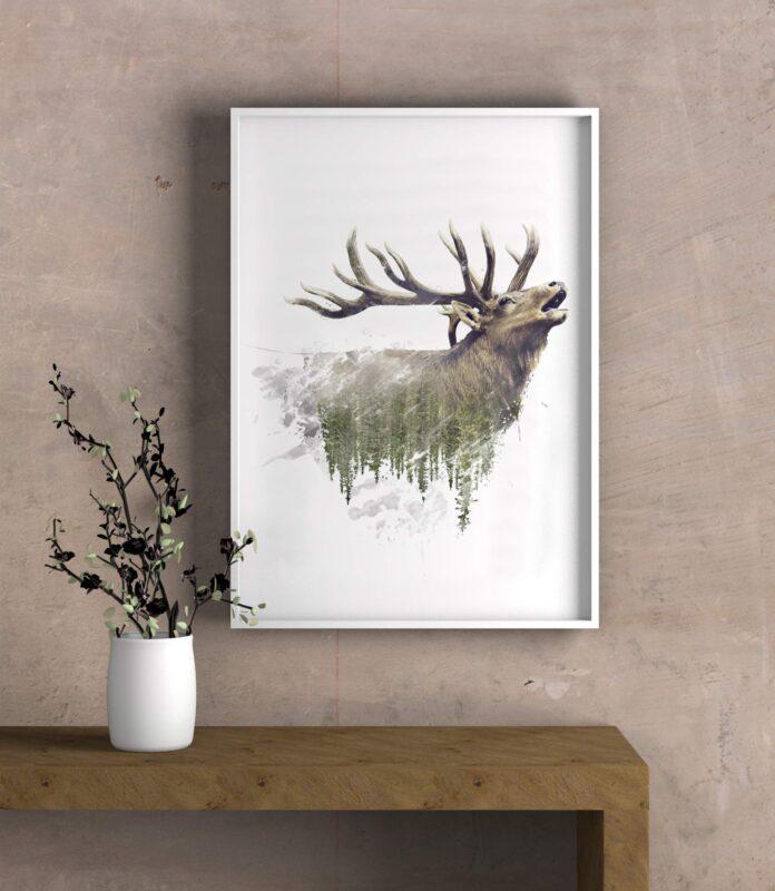 نقاشی دیجیتال شفق قطبی