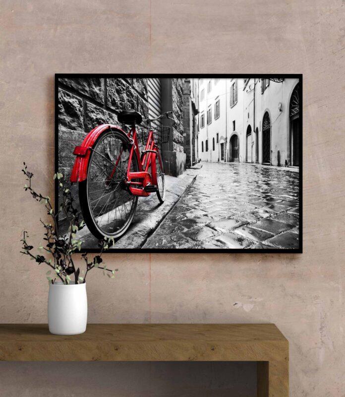 تابلو عکس دوچرخه قدیمی