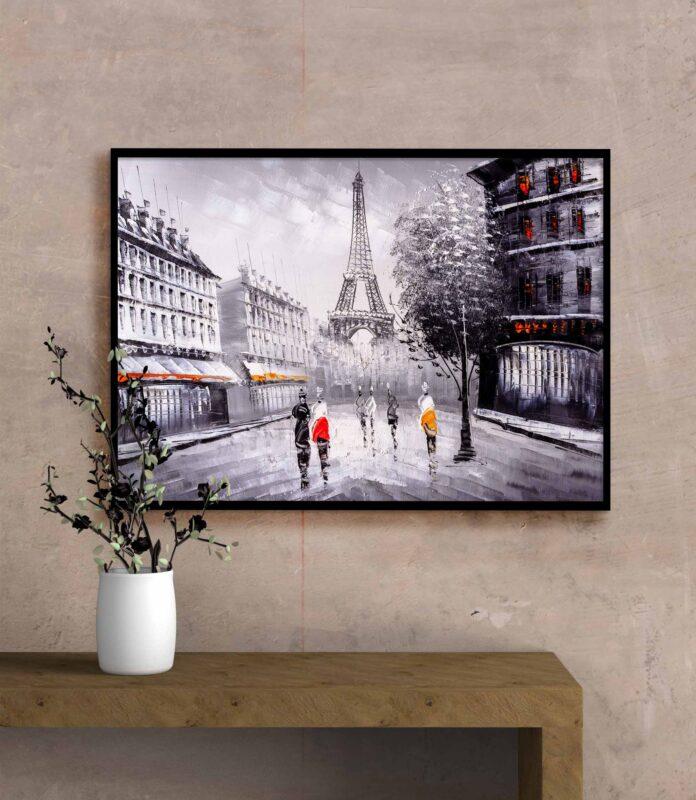 تابلو عکس نقاشی شهر پاریس