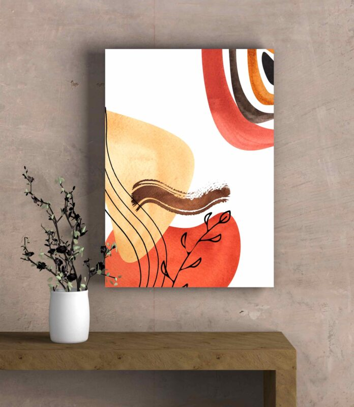 تابلو عکس مینیمال طراحی خطی بوته