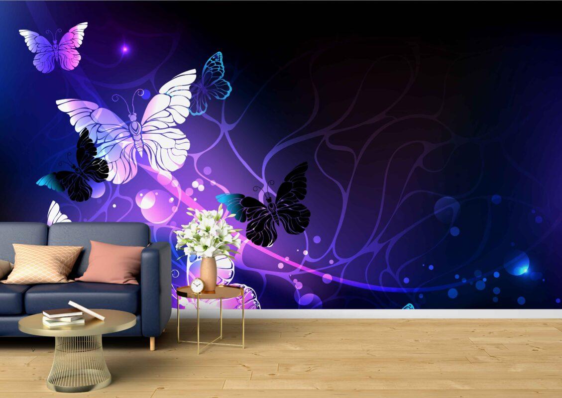 پوستر دیواری فانتزی پروانه