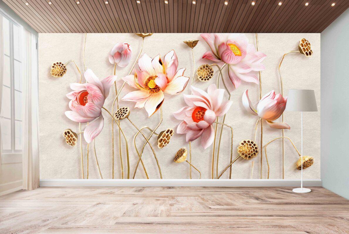 پوستر دیواری گل خوشرنگ
