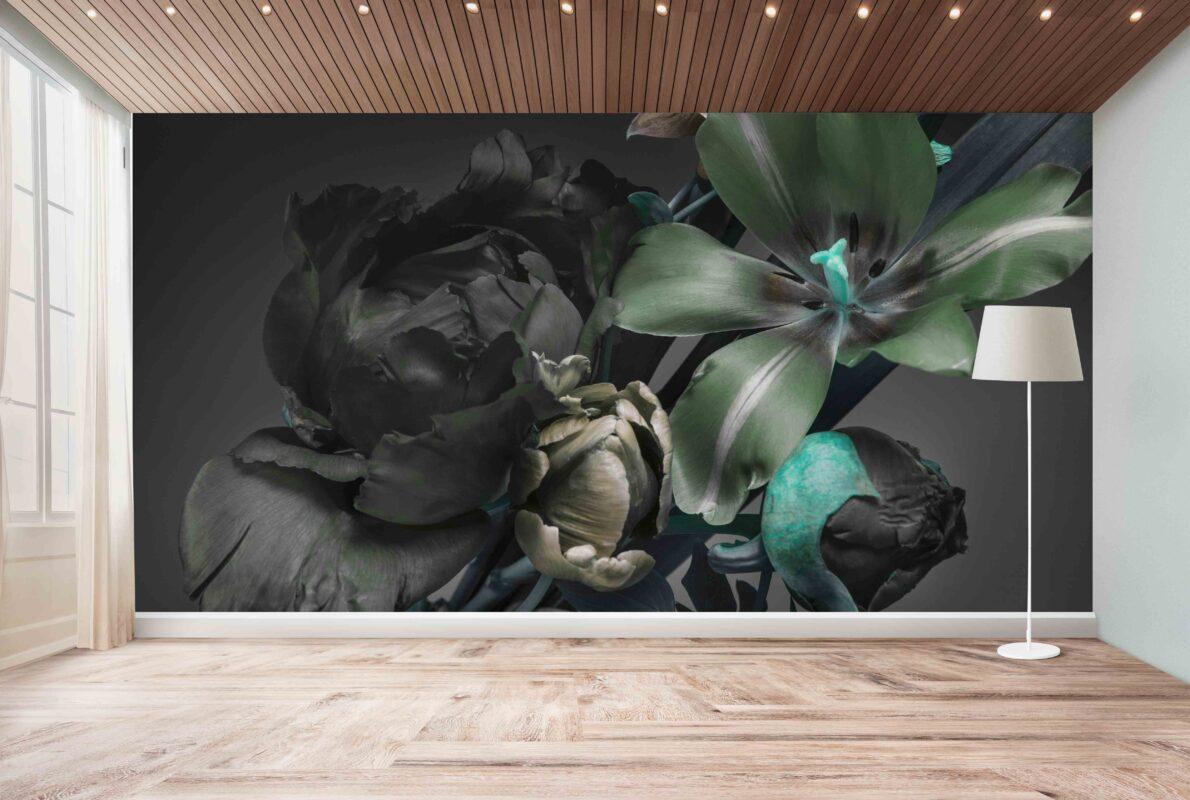 پوستر دیواری گل سبز